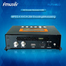 FUTV4622 DVB-T MPEG-4 AVC/H.264 HD Encoder Modulator (Tuner,HDMI in; RF out) with USB Upgrade for Home Use