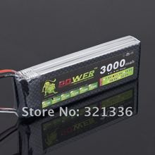 Lion Li-PO 11.1V 3000mAh 30C high capacity lithium polymer battery for rc heli cars truck R/C model toy(China)