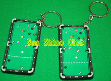 Free shipping 2pcs/lot billiards pool table keyrings/snooker tables keychain/Billiard Snooker accessories(China)