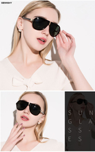 2017 Folding Aviator Sunglasses Women Men Fashion Pilot Lady Sun Glasses Plastic Black Frame Gold Mirror Lenses Unisex Eyewear