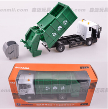 NEW 18*8*7cm Scania truck kids toy 1:43 alloy car model City Trailer series boy gift origin garbage truck transport