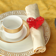 60pcs/lot Napkin Rings Wedding Favors Red Pigeon Shaped Design Holder For Table Decoration(China)