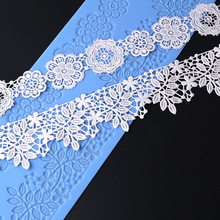 Yueyue Sugarcraft  Flower silicone lace mold fondant mold cake decorating tools chocolate gumpaste mold wedding cake decoraton
