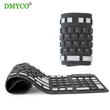 DMYCO Hot sales teclado Russian/English silicon portable Flexible keyboard USB Wired Rubber keyboard for Laptop Desktop Tablet