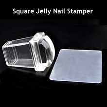 1Sets 2016 New Products Amazing Clear Jelly stamper Transparent Nail Stamp Scraper Stamper Transfer Stamping Plate