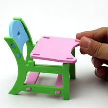 Hot Children EVA Handmade Creative Furniture 3D Model Puzzles Kindergarten Building Game Baby Kids Educational Toys Gifts 2016