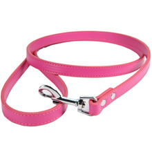 2017 new Brand 5 Colors 120cm Length Leather Dog Strong Leashes Pet Dogs Lead coleira para cachorro(China)