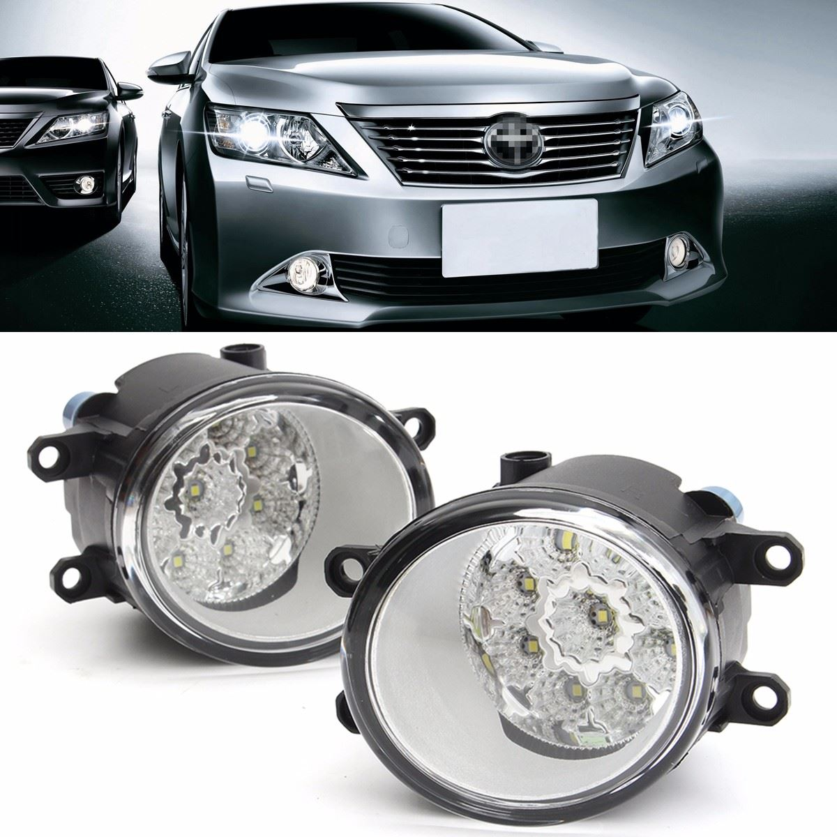 2016 Brand New Pair 9 LED Front Driving Fog Light Lamp For Toyota/Corolla/Camry/Yaris/Vios/RAV4<br><br>Aliexpress