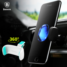Baseus Car Phone Holder For iPhone 7 6 360 Degree Mobile Phone Holder Soporte Movil Car Air Vent Mount Cell Phone Holder Stand