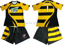 Best quality rugby sports wear with sublimation ptinted breathable rugby shirts for league