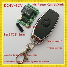 DC 4V-12V Wide Working Voltage Remote Switch 4.5V 5V 6V 7.4V 9V 12V 10A Relay Mini Wireless Control Switch RF RC No COM NC RXTX(China)