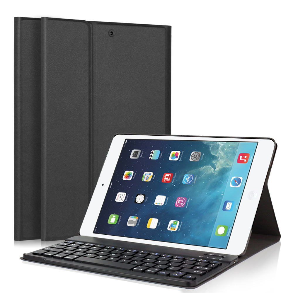 GOOJODOQ Case For iPad 2017 9.7 inch/Air 2/iPad Air 1 Keyboard + PU Leather Smart Cover Detachable Wireless Bluetooth Keyboard<br>
