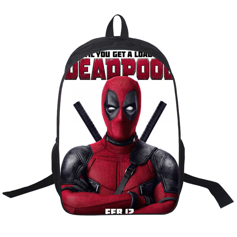 School Bags Deadpool Printing Boys Daily Book Bag Children Kids Shoulder Bag Women Men Travel Mochilas<br><br>Aliexpress