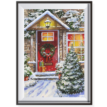 Nordic DIY Christmas Oil Painting By Numbers On Canvas Coloring Wall Picture Frameless Module Pictures By Numbers Room Decor