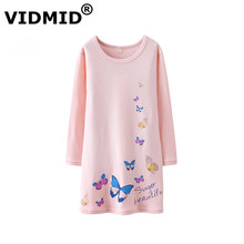 VIDMID cute new style Kids girls Baby Girls Princess Home Summer Casual long sleeves children's Dress Nightdress wear 7010 08(China)
