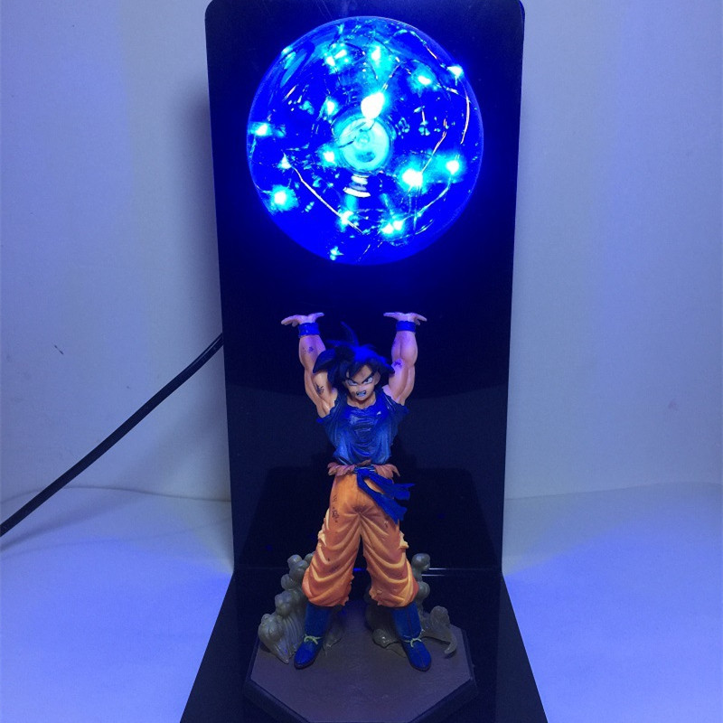 Dragon Ball Z Action Figure Son Goku Fighting Creativity Glowing Flash Ball DIY Display Toy Super Saiyan 2018 Newest (4)