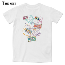 TANGNEST 80s Memory Radio Tape Print T shirt New Hot Sale Fashion Unisex T shirts Short Sleeve Comfortable Casual Tee MTS2349