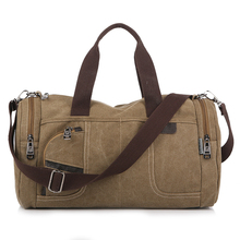 man canvas Messenger Bags duffle tote travel shoulder bag High Quality New Tote bolsa feminina Zipper Travel leisure handbag
