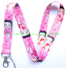 Wholesale 10Pcs Betty Boop Logo Strap Lanyards For ID Badge Mobile Phone Key Chain  A-K279