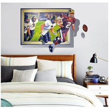 3d rugby wall home solid wall stickers decorative mural decorative arts living room bedroom home decoration accessories BK/093(China)