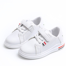 Children Autumn White Sneakers Baby Boys Casual Outdoor Sports Star Shoes Girls Flats Anti-slippery Shoes Kids Trainers C533