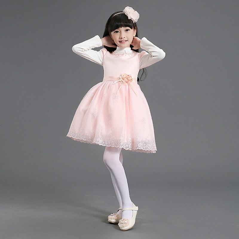 Nimble Girl Dobby clothes Princess Wedding Flower Cloth White Pink Vestidos Healthy Fabric Inner roupas infantis menina <br>