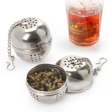 Safe Stainless Steel Tea Strainer Teapot Round Tea Infuser Filter Teapot For Tea & Coffee  Kitchen Drinkware Free Shipping 1854