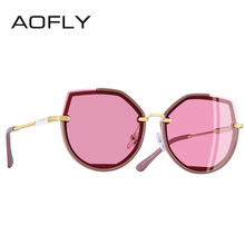 AOFLY BRAND DESIGN Fashion Lady Polarized Sunglasses Women Retro Vintage Cat Eye Sun Glasses Shades UV400 A115(China)