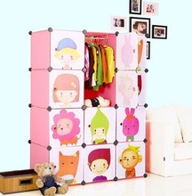 12 cubes children's cartoon DIY wardrobe closet creative assembled HOME decorations