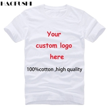 High quality cotton round neck t shirt quick custom logo texts tshirt Men's Printed short sleeve Men tops tee