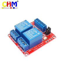 Buy Hobimake 2-Channel Relay Module optocoupler isolatio Arduino development board 5v 12v 24v Relay module wholesale #05-a for $53.96 in AliExpress store