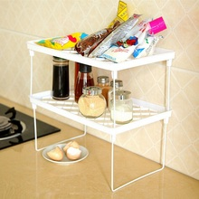 Superposition Shelf Multilayer Snap Type Plastic Foldable Storage Racks Kitchen Shelving Holders Multiuse Organizer GYH