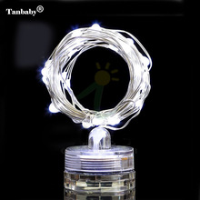 Tanbaby Submersibe Copper Wire string light 2M 20 LEDs Waterproof floral Bottle Vase Starry ribbon home garden decoration Lamp