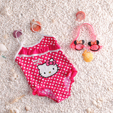 Lovely Kitty Bikini Set Girls One Piece Swimmable Swimwear Bathing Suit Baby Kids Cartoon Swimsuit Baby Swimwear Cute Beachwear