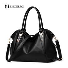 HJPHOEBAG Women fashion leisure Hobos shoulder bag lady high quality leather messenger bag pure color elegant handbag Bags Z-32