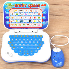New Simulation Computer With Mouse Mini Colorful Puzzle Toy Early Learning Education Machine Tablet Toy Gift Random Color(China)