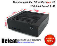 Wolferdtech Model W3 with intel i3 7100 3.9GHz, 16G DDR4 RAM+M.2 SSD, USB type-C Wifi&BT, Windows 10, defeat intel core i3 6100
