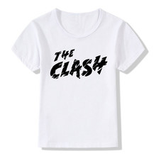 Boy and Girl Print The Clash London Calling Fashion T-shirt Children Short sleeve Summer Tshirts Kids Tops Tee Baby Clothes