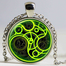 New Steampunk uk movie dr doctor who bomb Necklace 1pcs/lot bronze silver police time lord Pendant chain mens women vintage