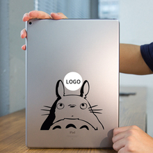 Curious Totoro Anime Laptop Sticker for Apple iPad Decal Air / 1 /2 / 3 / 4 / Mini Surface Book Tablet PC Skin Notebook Sticker