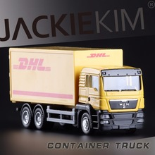 High Simulation Exquisite Collection Toys RMZ Car Styling Container Truck Model 1:64 Alloy Truck Model Fast&Fruious