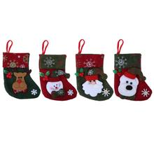 Christmas Stocking Children Gift Candy Bag Santa Claus Socks Christmas Tree Hanging Ornaments Xmas Decoration