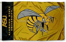 Alabama State Hornets ASU wordmark Flag 3x5FT NCAA banner 100D 150X90CM Polyester brass grommets custom66,free shipping(China)