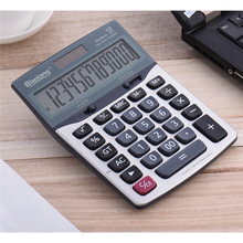 Dual Power Supply Solar Power Calculator With Button Cell 12-Digit  Desk Counter Calculting for Student Office New Arrival
