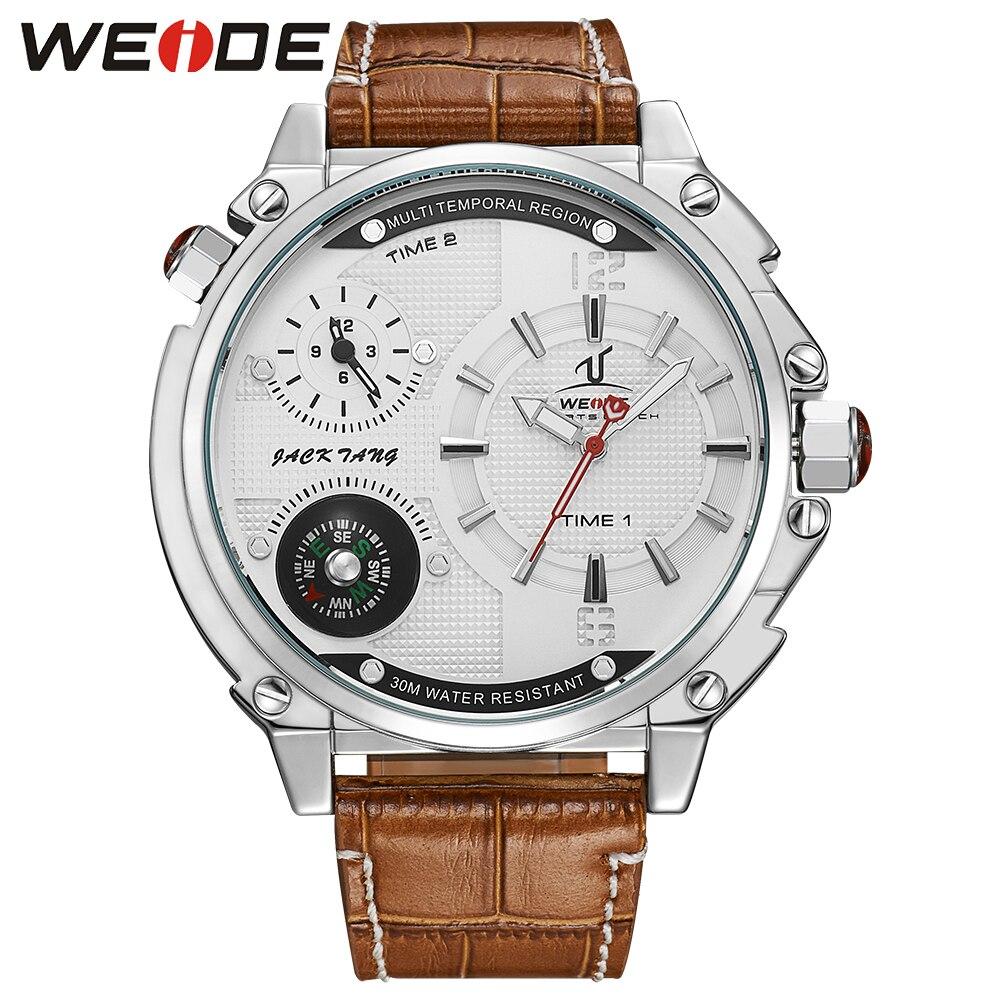 WEIDE Luxury Brand Fashion Casual Watch Men Quartz Leather Clock Man Sports Watches Waterproof Mens Dress Wristwatch<br>