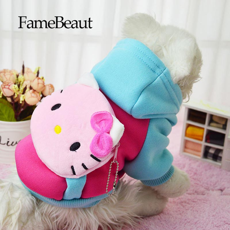 ideacherry Winter Pet Dog Clothes Clothing Hello kitty Spiderman For Pet Small Big Dog Coat Winter Clothes Jackets With Pocket(China)