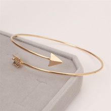 TOMTOSH 2016 Hot Sale New Fashion gold Silver Adjustable Round Arrow Bangle Bracelet For Women bangles Jewelry Wholesale