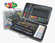 Children's Day Drawing Paint Set Gift Art Supplies School Stationery Watercolor Pen Oil Pastel Box 1 Set