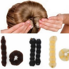 2Pcs/set Hot Fashion Hair Tools Elegant Magic Style Buns Headwear Hair Rope Hair Accessories