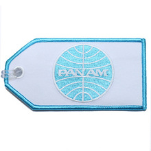 Embroidery Pan Am Airlines Retro Bag Tag
